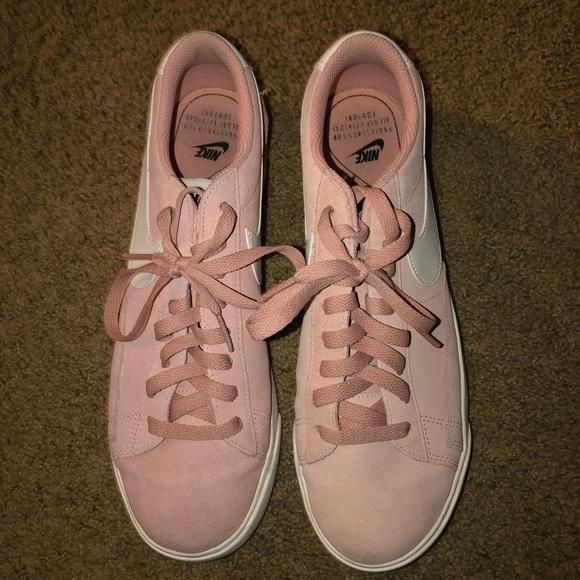 Nike Shoes - Nike Light Pink Suede Women's Blazer Shoes !!!